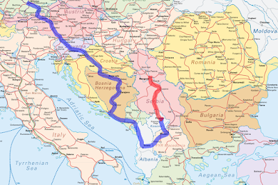 recorrido Inter-Rail Balcanes