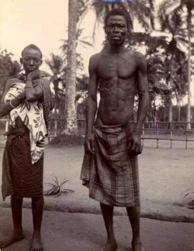 This picture of an Ibibio man & his wife was taken 110 years ago