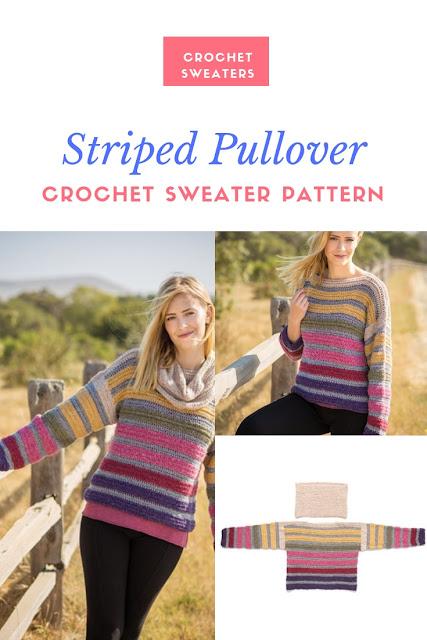 Crochet a Striped Sweater Crochet Pattern for Fall