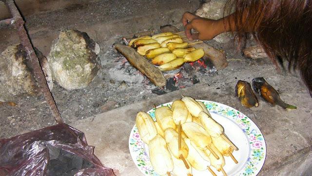 smakowite grillowane banany z cukrem