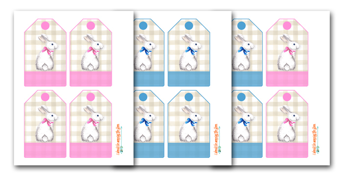 Printable Easter Basket Tags
