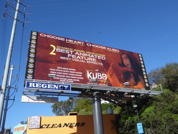 Kubo and the Two Strings Oscar Choose Heart billboard