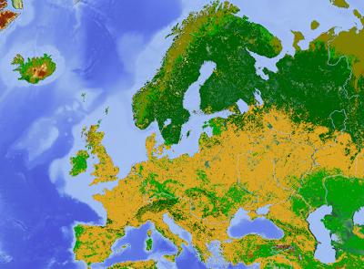 Peta penggunaan tanah di Eropa