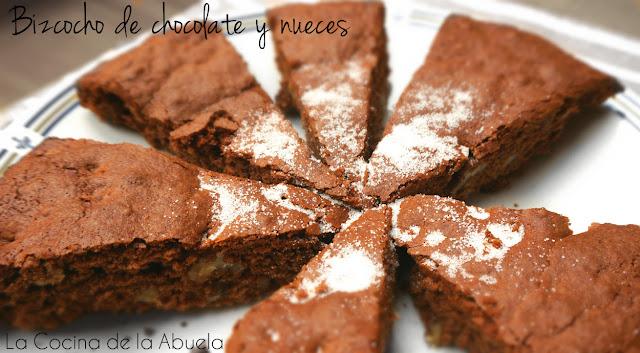 bizcocho chocolate nueces repostería receta final