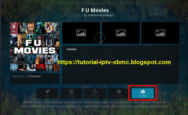 F U Movies Kodi Addon - 720p 1080p 3D Movies On Kodi - New Kodi