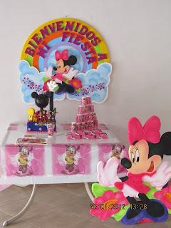DECORACION MINNIE MOUSE 2 FIESTAS INFANTILES RECREACIONISTAS MEDELLIN