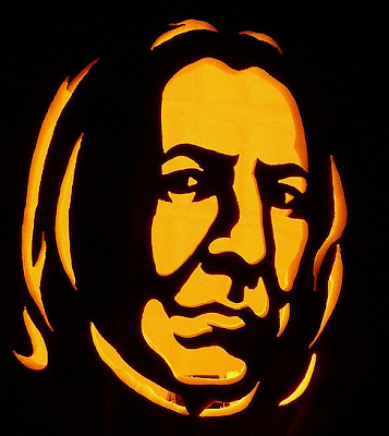 Snape pumpkin carving template for Harry potter pumpkin carving templates