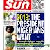 NIGERIA NEWSPAPERS: TODAY'S THE DAILY SUN NEWSPAPER HEADLINES [28 JANUARY, 2018].