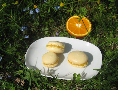 Macarons mit Orange Curd Füllung