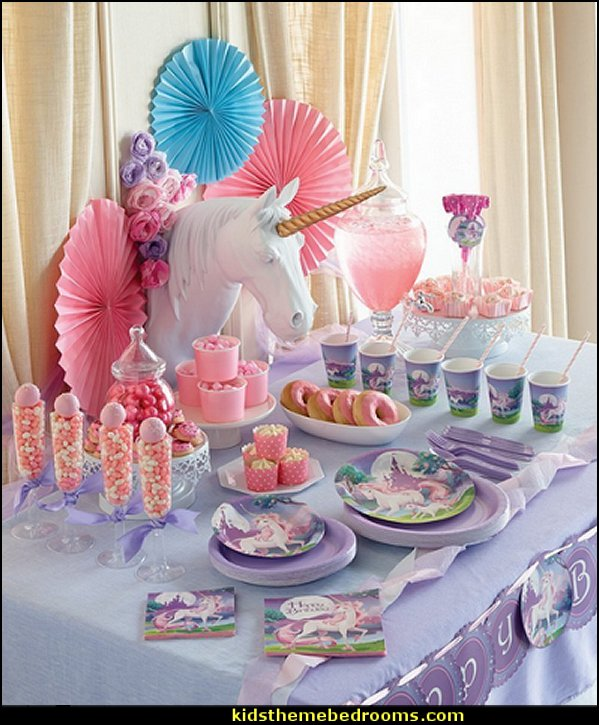 Unicorn Fantasy  unicorn party supplies - rainbow unicorn party decorations - unicorn birthday party - Unicorn Themed Party -  Unicorn Balloons  -  unicorrn cupcakes - rainbow decorations - Unicorn  Garlands - sequin tablecloth - tutu table skirt -