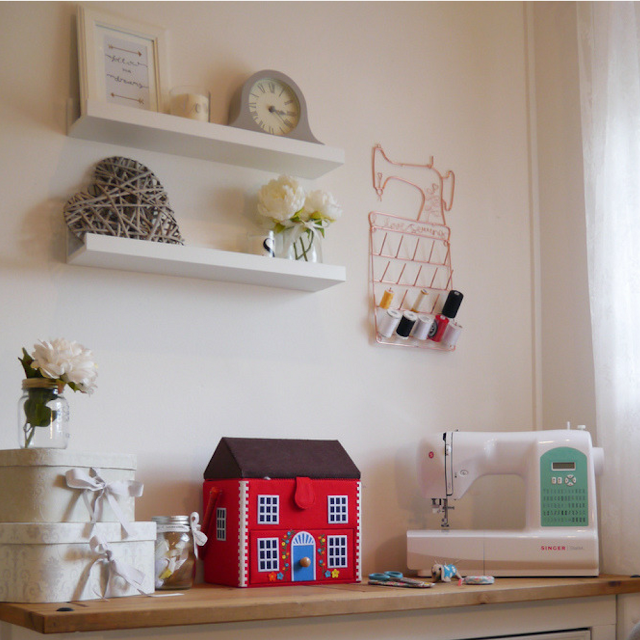 How I transformed my small spare room into a sewing room and home office with some beautiful items from Laura Ashley