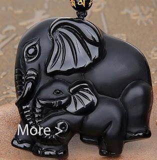 black elephant pendant