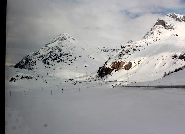 Pico Lagalb desde del Bernina Express