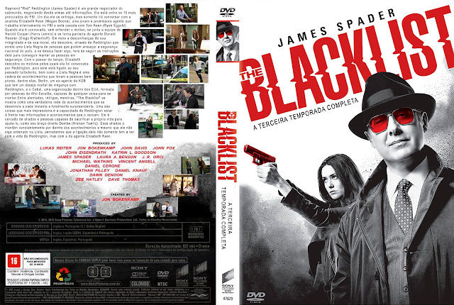 Capa DVD The Blacklist A Terceira Temporada Completa