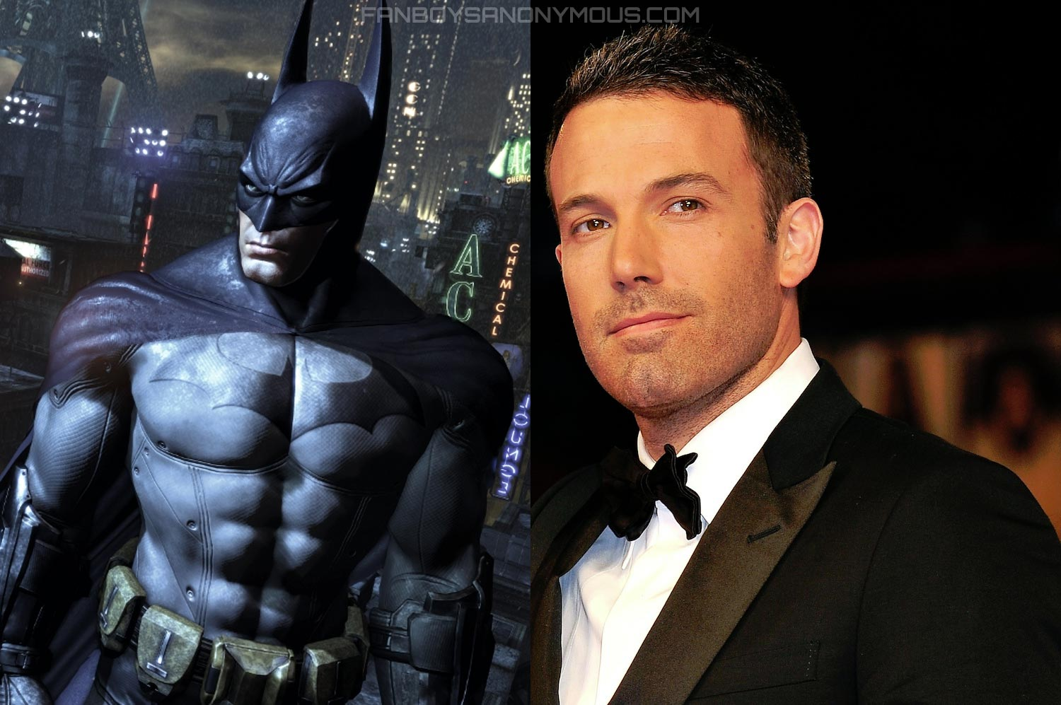 First Look at Ben Affleck in Batman Costume Cowl