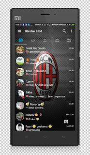 BBM Theme AC Milan V3.1.0.13 Apk Terbaru