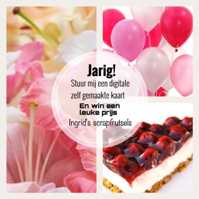 Populair Ingrid's scrapfrutsels: Jarig! #UC84