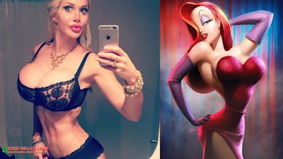 Pixee Fox Model Seksi Dan Cantik Yang Mirip Boneka Kartun