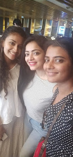 Keerthy Suresh with Cute and Awesome Lovely Smile with Janani and Aishu 1