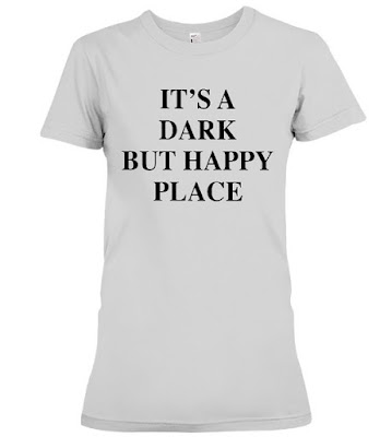 It's A Dark But Happy Place T Shirt Hoodie - Victoria Beckham