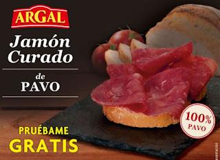 Compra gratis Jamón Curado de pavo Argal