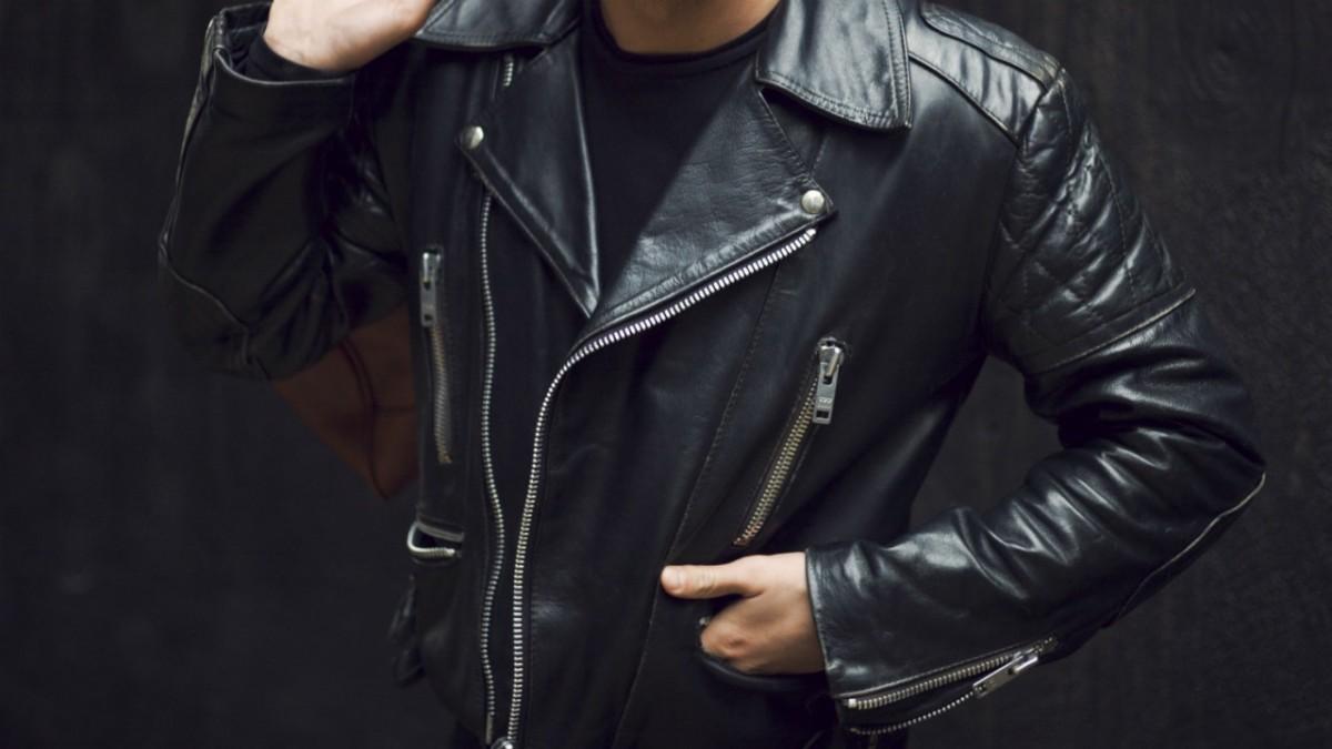 Askmen leather jacket