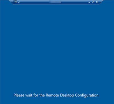 Redimensionner ma machine virtuelle le Remote Desktop : Please wait