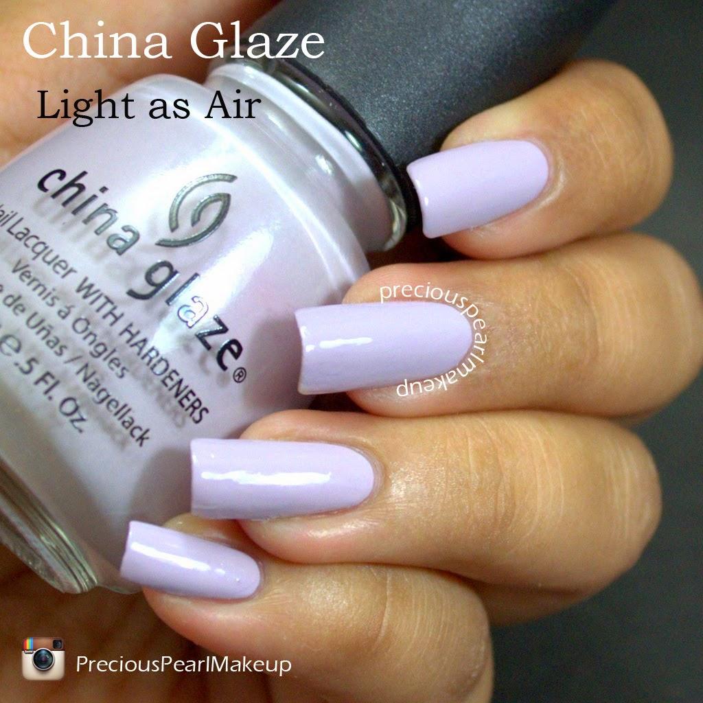 Preciouspearlmakeup China Glaze Nail Lacquer Light As Air