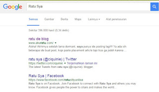 Google Indexing Sang Ratu de Blog