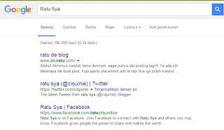 Google Indexing Sang Ratu de Blog