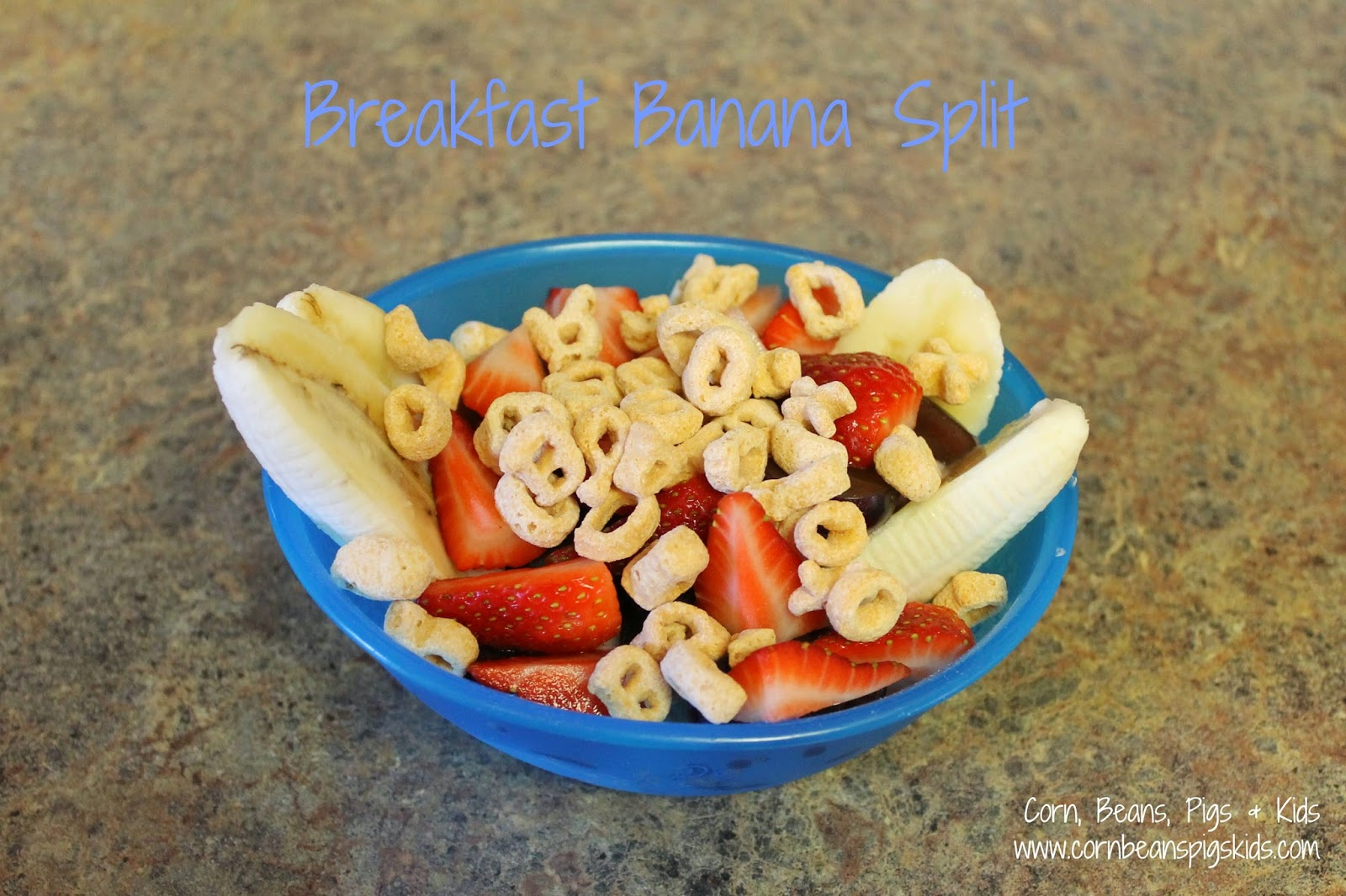 Trying something fun, easy and different for breakfast - Breakfast Banana Split recipe