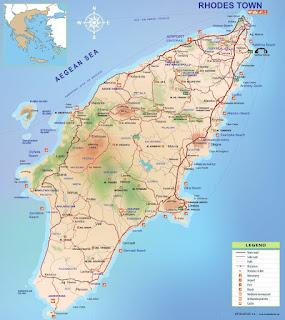 Rodos Adası gezi rehberi haritası