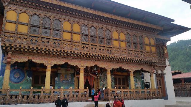Monastery in Punakha Dzong