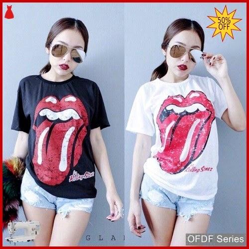 OFDF093 Atasan Kaos Tongue Tshirt 151 Modis BMGShop