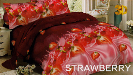 Sprei Red Rose Strawberry