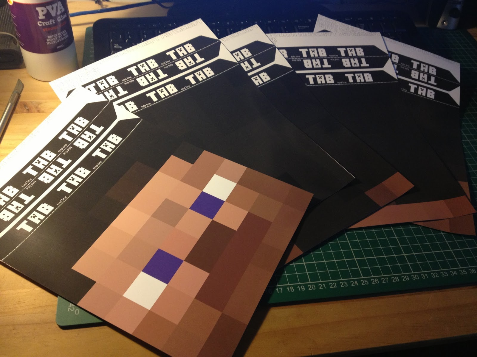 image about Minecraft Steve Printable identified as Fb