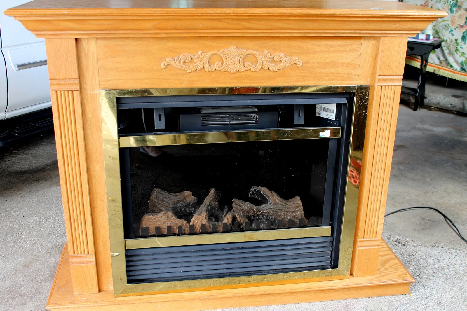 Art is beauty cheap and easy faux shiplap fireplace makeover diy goodwill fireplace makeover 2011 solutioingenieria Images