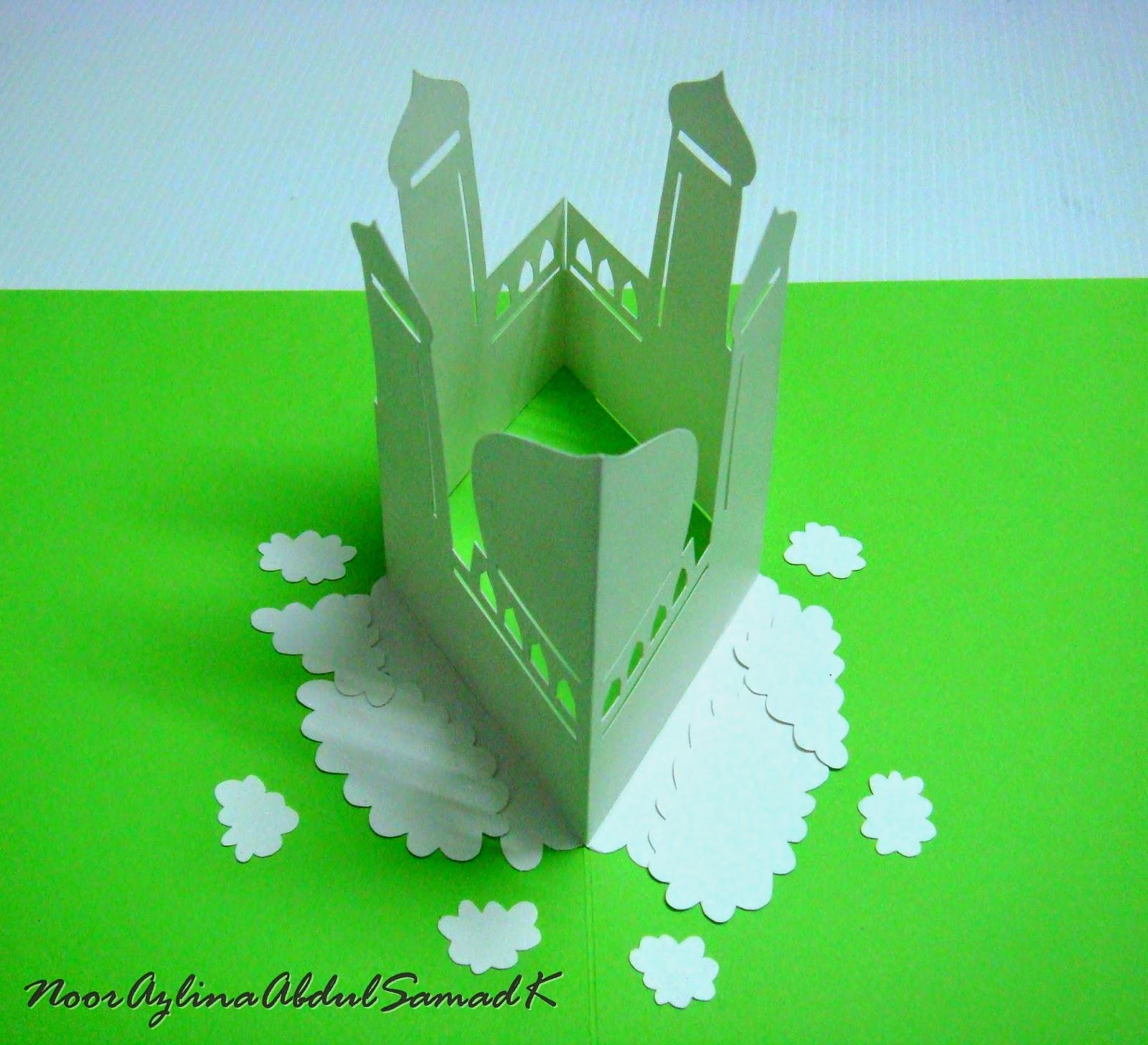 Azlina Abdul Eid Mubarak Pop Up Mosque Card