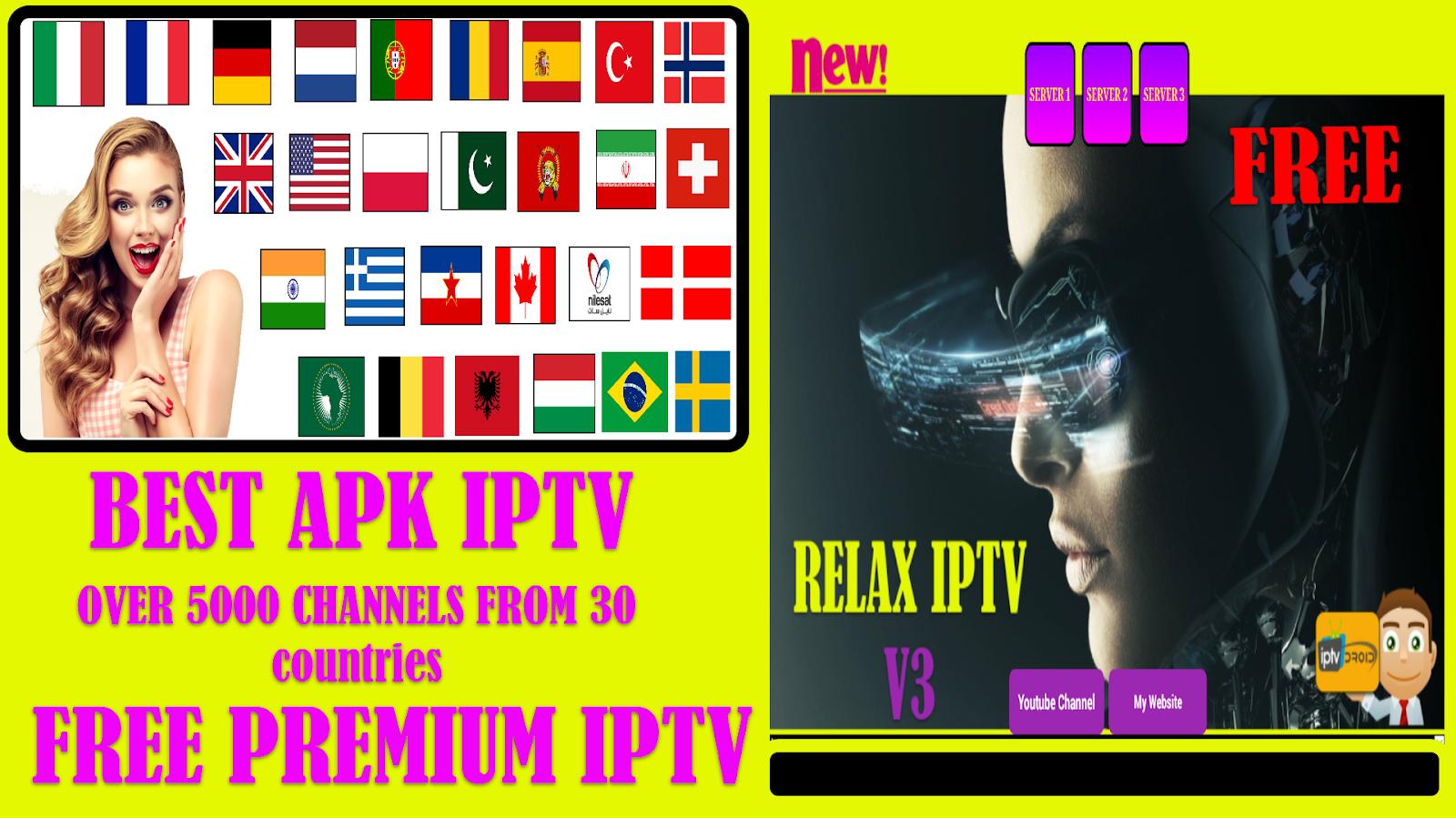 RELAX IPTV V3 = BEST APK TO WATCH PREMIUM CHANNELS - IPTV DROID