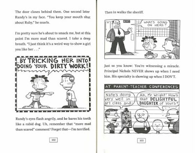 Big Nate humorous chapter book spread