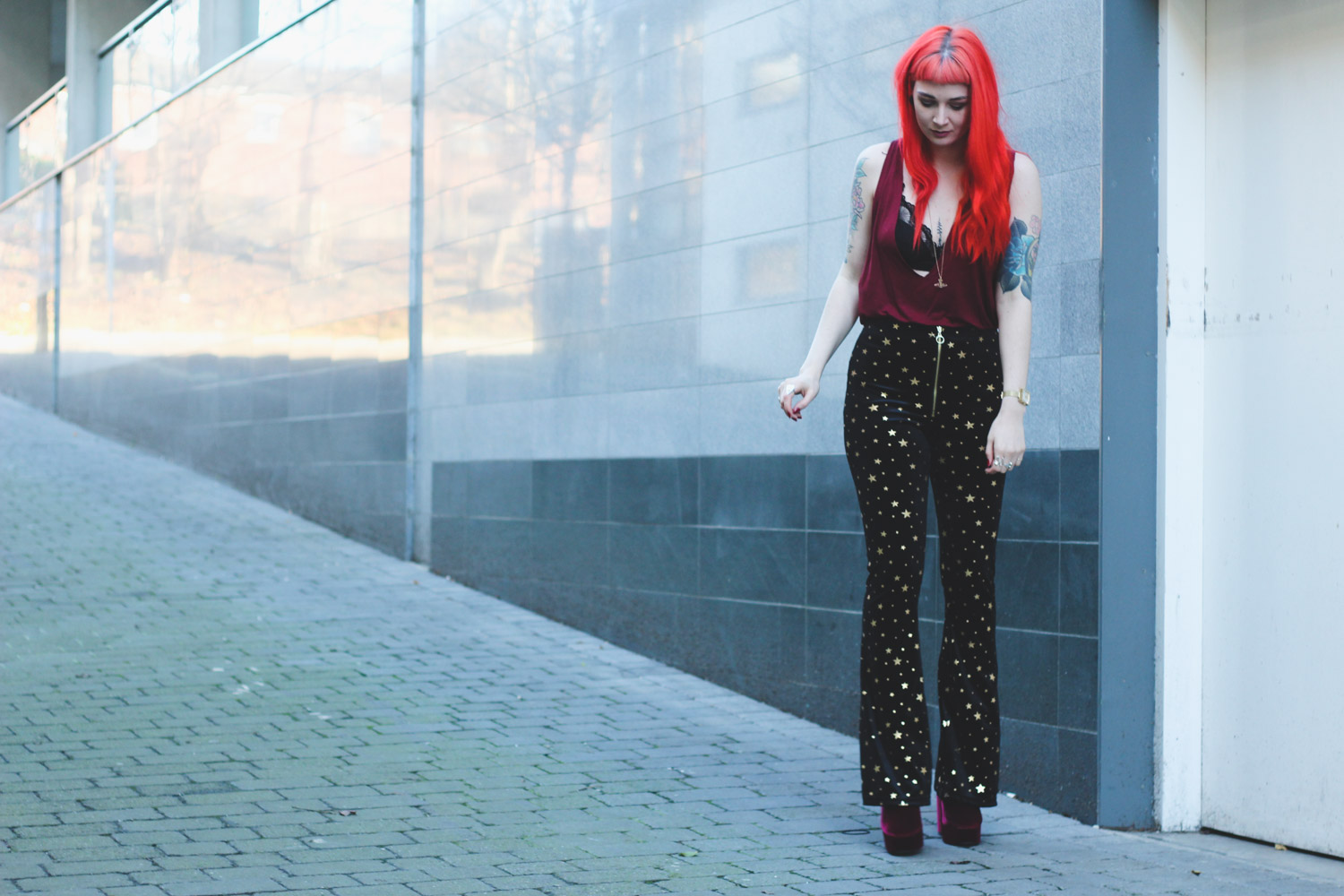 Alternative Fashion Blogger Foxxtailz in Topshop Flares