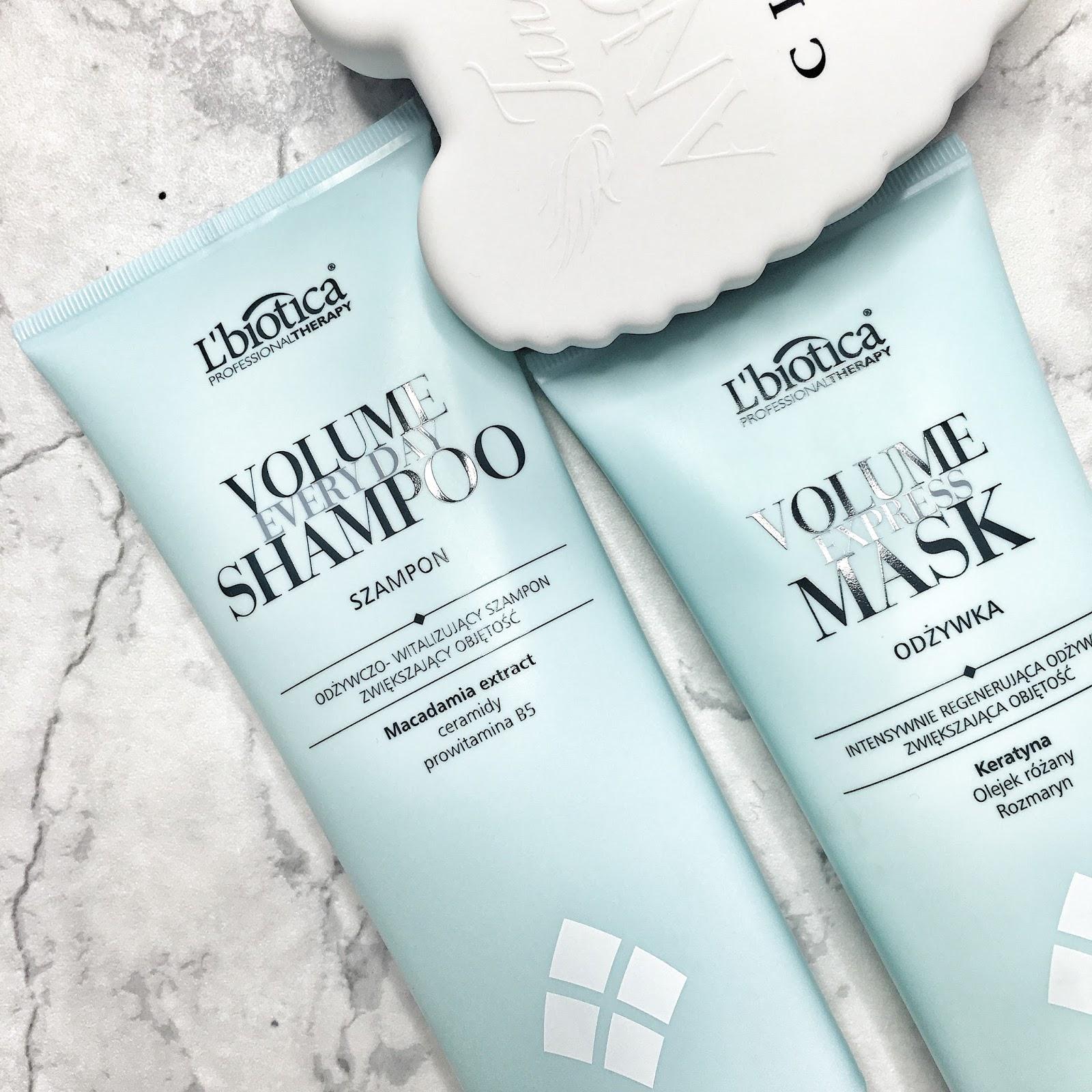 L'biotica seria profesjonalna, szampon i odżywka dodająca objętości