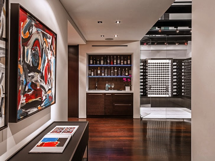 Entertainment room in Perfect modern mansion in Beverly Hills