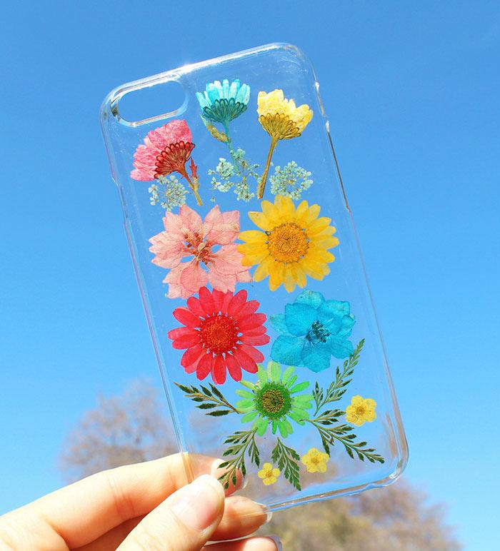 Estuches con diseños de flores para teléfonos móviles de HouseOfBlings
