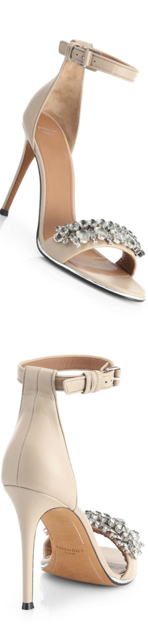 Givenchy Jeweled Mona Sandals in Nude