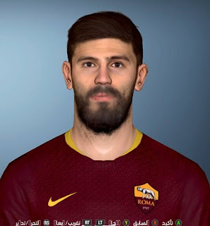 PES 2017 Faces Federico Fazioe by Facemaker Ahmed El Shenawy