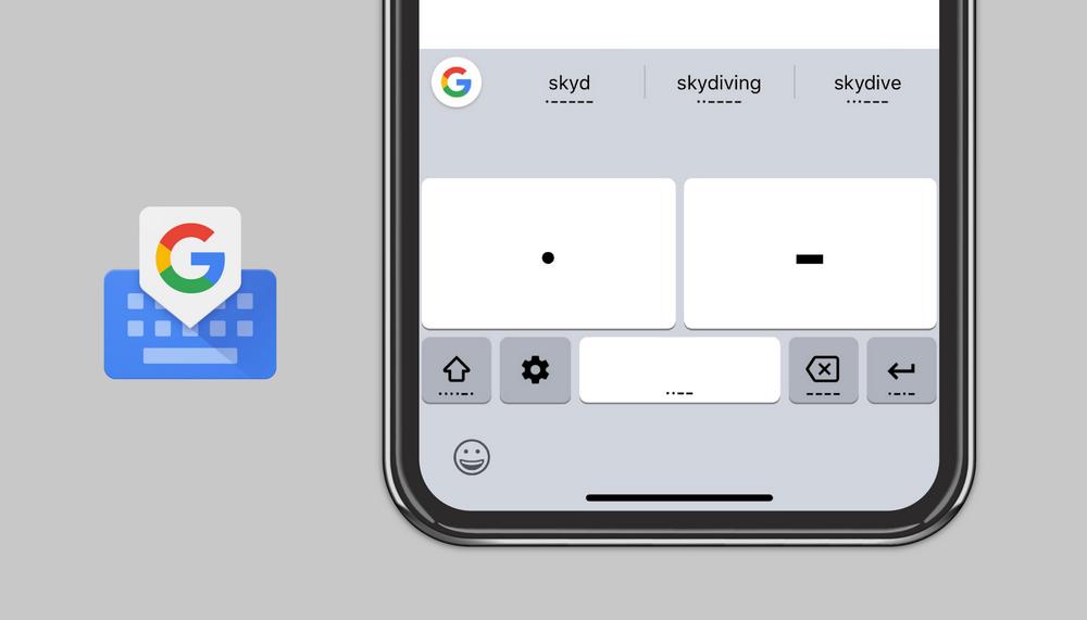 تتيح لك لوحة مفاتيح Google Gboard الآن التواصل عبر شفرة مورس على كل من Android و iOS