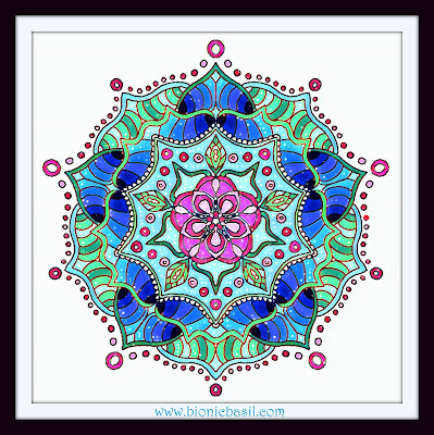Colouring With Cats  Mandala #79 @BionicBasil™  Coloured by Cathrine Garnell 17-2-19