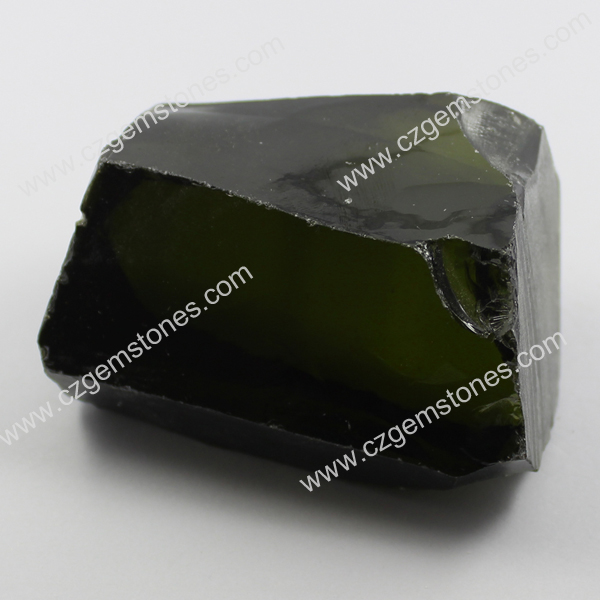 olive green cz rough wholesale