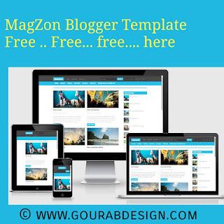 magzon blogger template